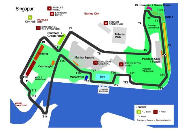 F1 Singapure 2015 Plan