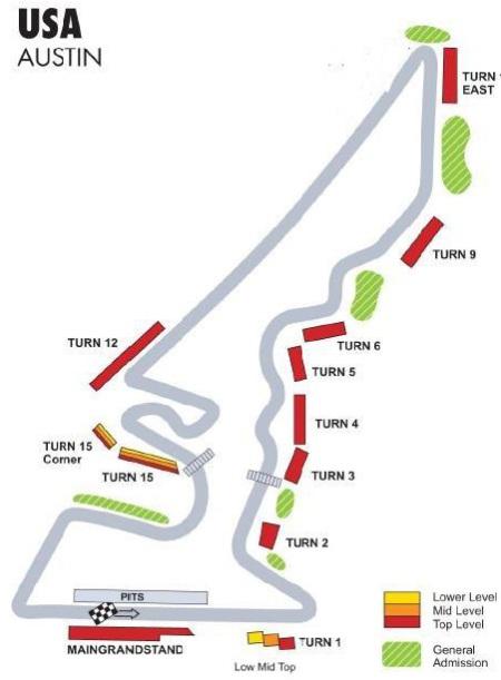 Formel1 Austin Tribünen