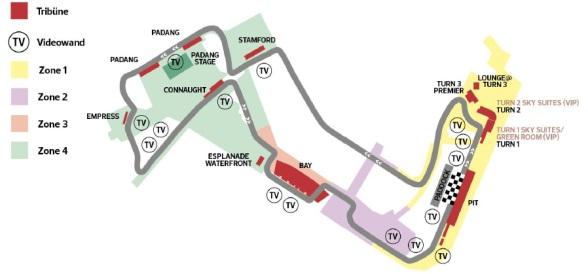 F1 Singapur 2018 Strecke