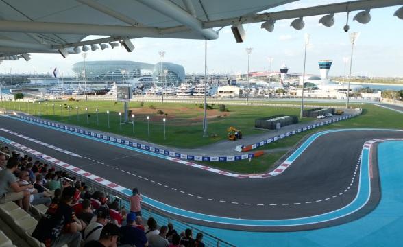 F1 Abu Dhabi Blick von Südtribüne