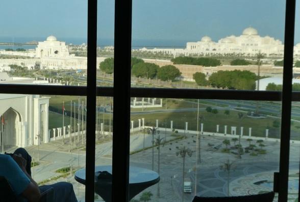 F1 Abu Dhabi Blick aus Khalidiya Palace