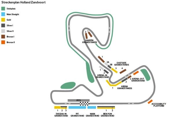 F1 Zandvoort Streckenplan